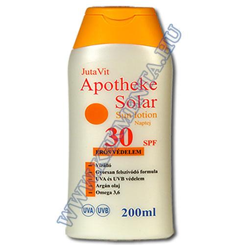 Aphoteke Solar, JutaVit naptej 30 faktoros (SPF), 200 ml
