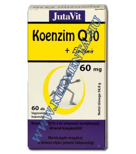 Koenzim Q10 + E-vitamin kapszula 60+6 db, JutaVit
