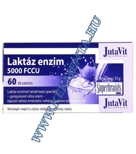 Laktáz enzim 60 db, 5000 FCCU, Jutavit