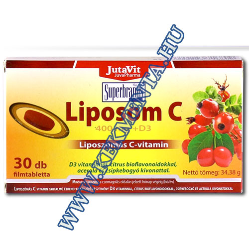 Liposzómás C-vitamin 400 mg + D3, 30 db, Jutavit
