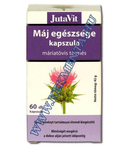 Máj egészsége kapszula (máriatövis termés), 60 db JutaVit